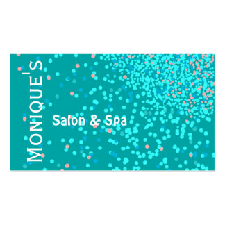 Blue Water Abstract Spa salon gift certificate Business Card Template