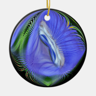 Blue Water Abstract sphere ~ ornament