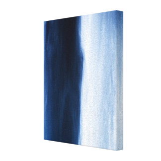 Blue Water Abstract Stretched Canvas Prints