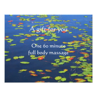 Blue Water and Lily pads Certificate Personalized Invitation