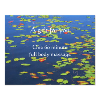 Blue Water and Lily pads Certificate 4.25x5.5 Paper Invitation Card