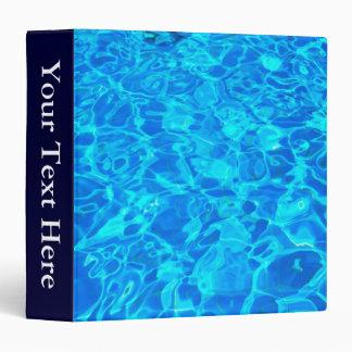 """blue water background 1.5"""" Binder"""