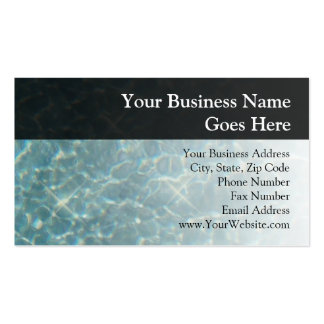 Blue Water Background Business Card