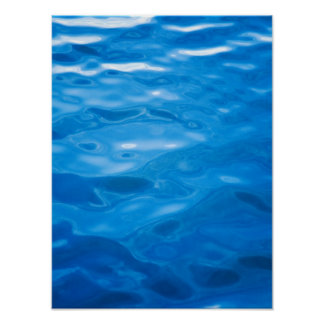 Blue Water Background - Customized Template Posters