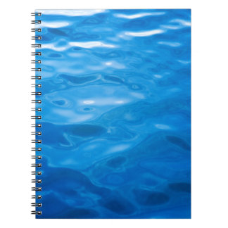 Blue Water Background - Customized Template Spiral Note Book
