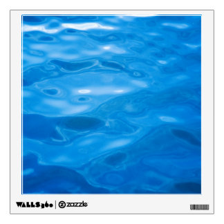 Blue Water Background - Customized Template Wall Sticker