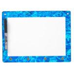 blue water background Dry Erase Board