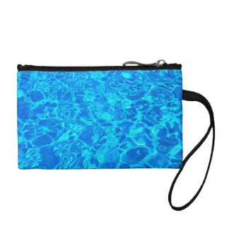blue water background Key Coin Clutch