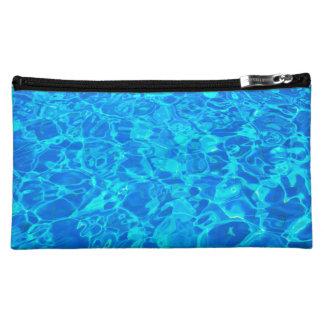 blue water background Medium Cosmetic Bag