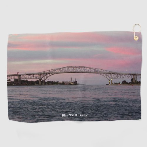 Blue Water Bridge golf towel
