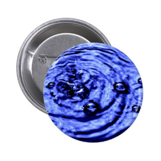 BLUE WATER BUBBLES 2 INCH ROUND BUTTON
