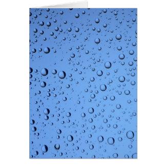 Blue Water Bubbles Card