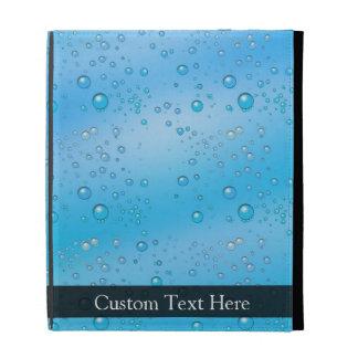Blue Water Bubbles iPad Folio Cases
