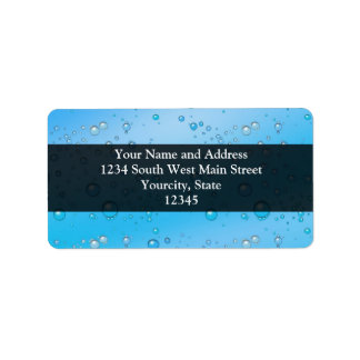 Blue Water Bubbles Personalized Address Labels