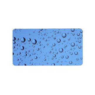 Blue Water Bubbles Label