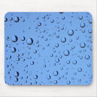 Blue Water Bubbles Mouse Pad