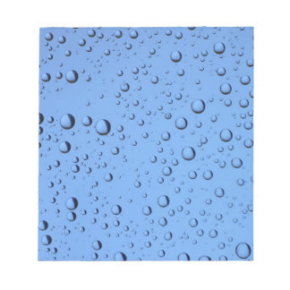 Blue Water Bubbles Notepad