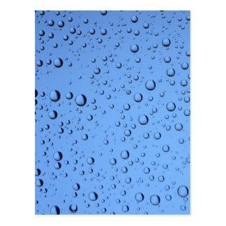 Blue Water Bubbles Postcard