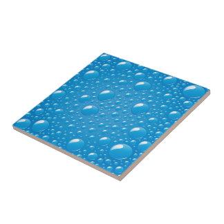 Blue Water Bubbles Tiles