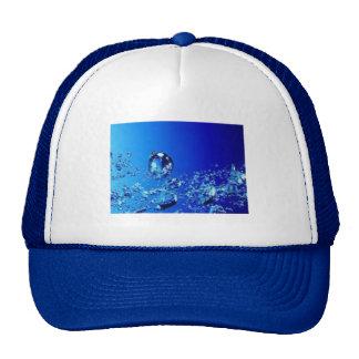 BLUE WATER BUBBLES WATER FRESH CLEAR DIGITAL TRUCKER HAT