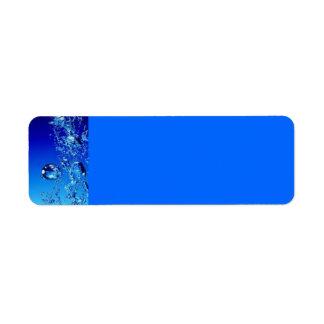 BLUE WATER BUBBLES WATER FRESH CLEAR DIGITAL LABEL