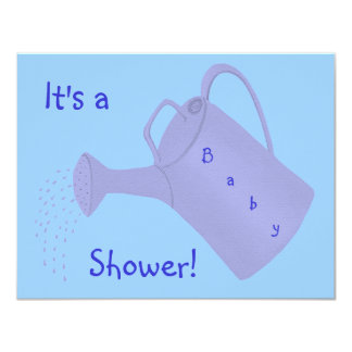 Blue Water Can Custom Baby Shower Invitations