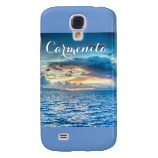 Blue Water Clouds sky Scenery Samsung Galaxy S4 Case