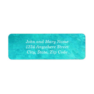 Blue Water Color Address Label