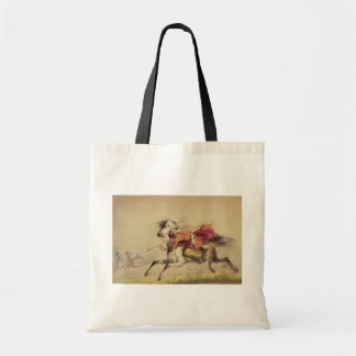 Blue Water Creek Battle By Alfred Jacob Miller Tote Bag