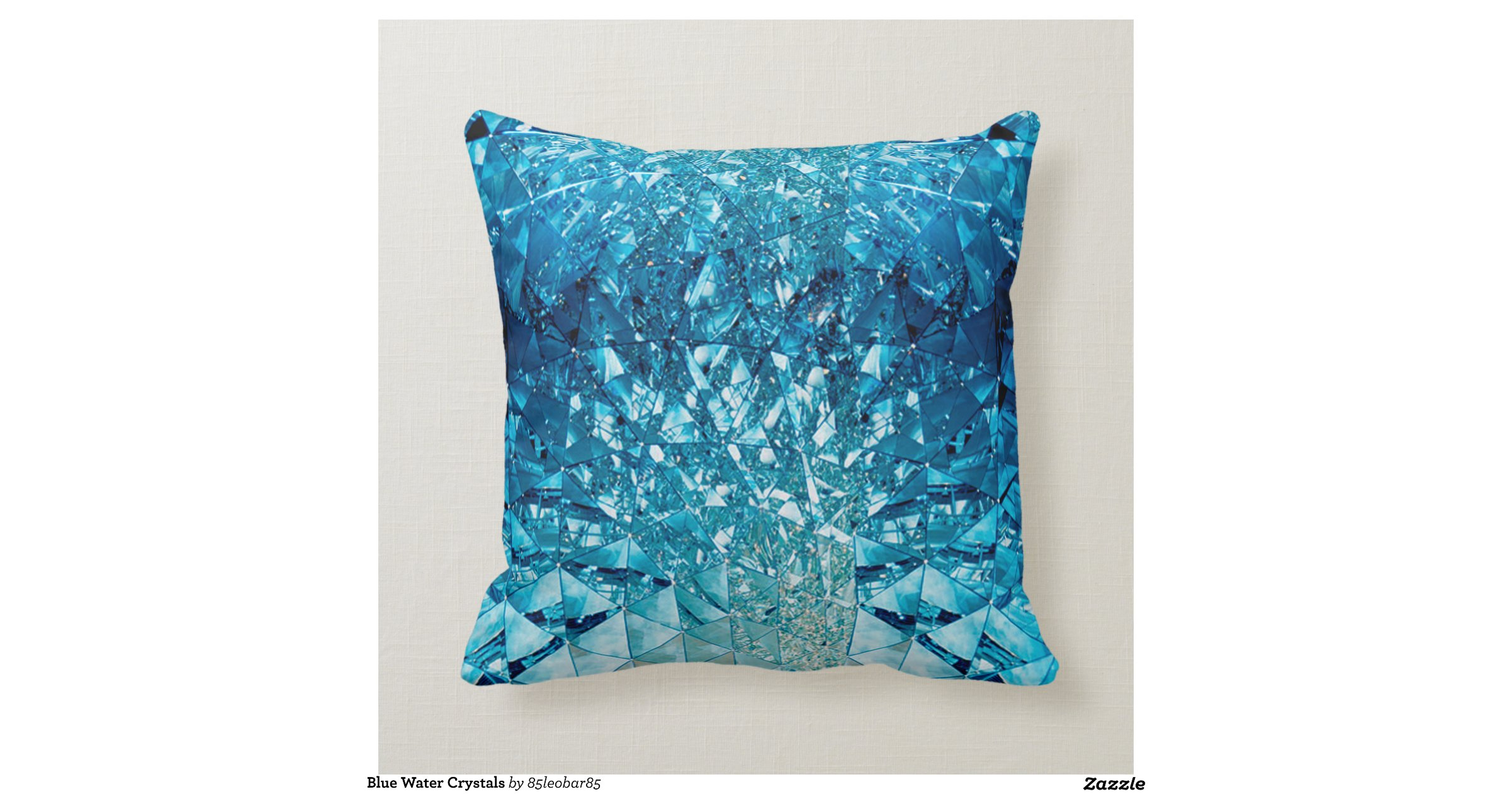 Throw Pillows Under 5 Dollars : Blue Water Crystals Throw Pillows Zazzle