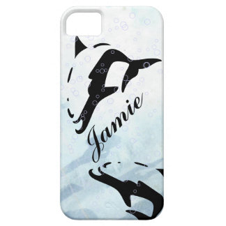 blue water DOLPHIN iphone covers iPhone 5 Cover