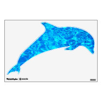 blue water dolphin wall decal