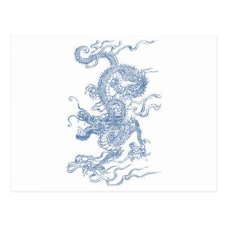 Blue Water Dragon 2012 Postcard