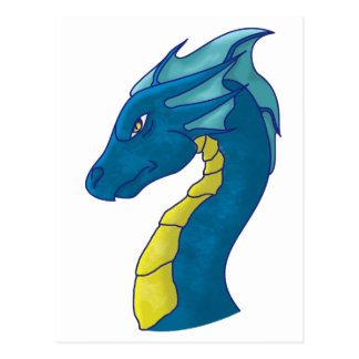Blue Water Dragon Postcard