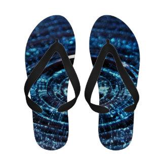 Blue Water Drop Flip Flop Sandals