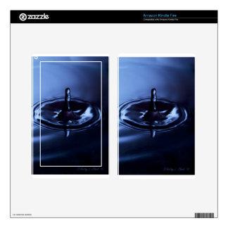Blue Water Drop Suspension Kindle Fire Skin