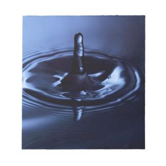 Blue Water Drop Suspension Note Pad