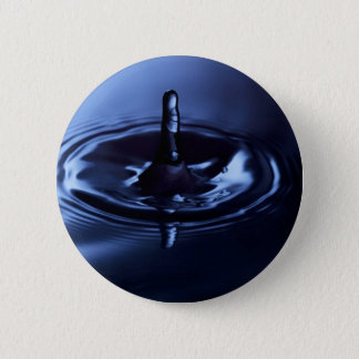 Blue Water Drop Suspension Pinback Button