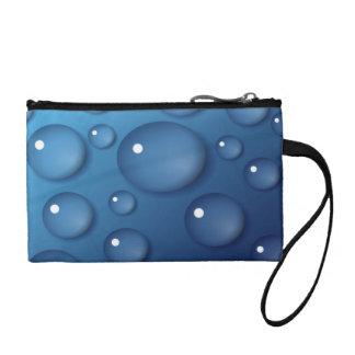 Blue Water Drop Texture Coin Wallet