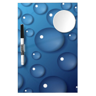 Blue Water Drop Texture Dry Erase Board
