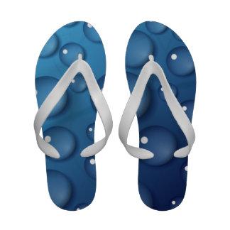 Blue Water Drop Texture Sandals