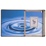 Blue Water Droplet (2) iPad Cases