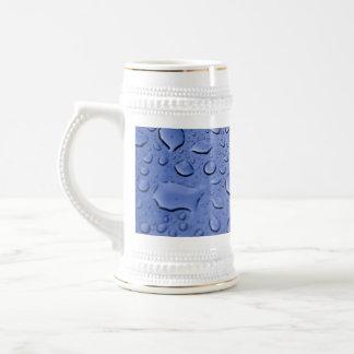 Blue Water Droplets Beer Stein