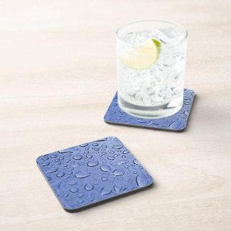 Blue Water Droplets Beverage Coaster