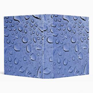 Blue Water Droplets Vinyl Binders