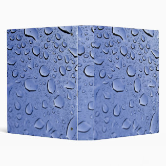 Blue Water Droplets Binder