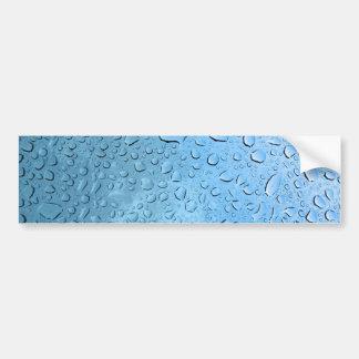 Blue Water Droplets Bumper Sticker