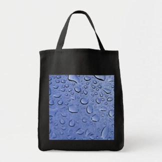Blue Water Droplets Canvas Bags