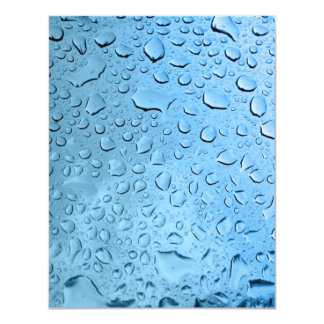 Blue Water Droplets Card