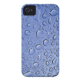 Blue Water Droplets iPhone 4 Case-Mate Cases